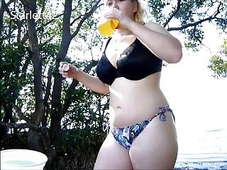 Amateur Interracial Big Boobs video: Day at Desoto Beach