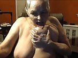 Grandma 68 years old with big tits, 2