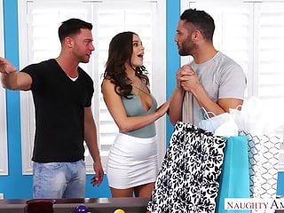 Big Cock Big Ass xxx: LANA RHOADES THREESOME - CHEATS & FUCKS 2 GUYS