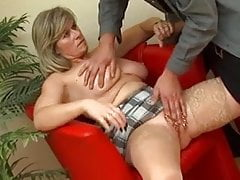 Pierced German MILF with lots of rings in her pussy