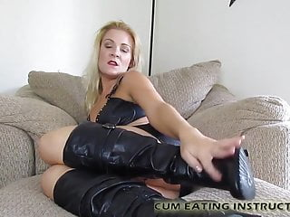 You will lick your cum off my boots you little bitch CEI