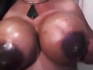Brazilian Big Tits Milf video: Lactating ebony busty