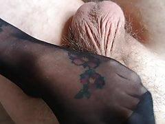 Sexy nylonowe stopy