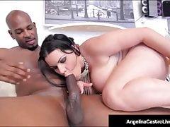 Cubana BBW Angelina Castro si scopa un grosso cazzo nero!