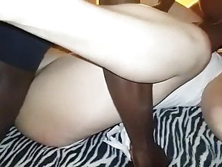 Interracial Bbc video: Lucky hubby gets to watch 2 bbc and his wife