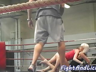 Lesbians Redheads Small Tits video: Euro dyke seduces her wrestling opponent