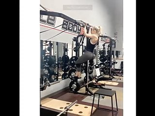 Softcore Teen Blonde video: At the gym :)