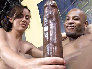 Interracial Hardcore Big Cock video: Mae Meyers Interracial