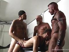 Quarteto Barebacking Sexo Orgias