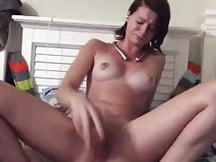Hot Teenager Tearing Up Massive Faux-cock Rock-hard Cascading With Jizm Cute Tits