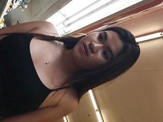 Asian Voyeur Teen video: Cute Asian Big Hoops Braless