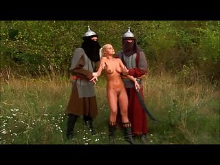 .Hot young Nikki gets tight holes fucked by enemy soldiers.
