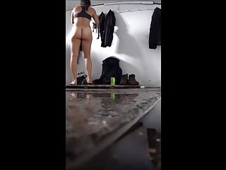 Bbw Hidden Cams Voyeur video: Plump ass, changing for a swim, spy cam