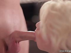 CFNM Blowjob Perfektion Blonde MILF