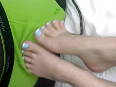 Ashley Soles Footjob Part 1