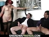 Redhead mature woman gets double fucked