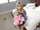 Petite Kenzie Reeves dicked by hung stud with a camera