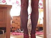 Coming in heels n fishnets