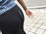 Cum on Ass Public Moreninha com Calcinha Marcando