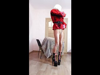 Amateur Shemale Lingerie Shemale Hd Videos video: CD in red fur