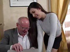 sekretarka pieprzy swojego starego szefa