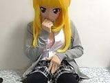 kigurumi school girl vibrating
