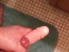 Cumming on a vibrating dildo