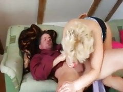 BBW mature makes crazy her man with her big boobs