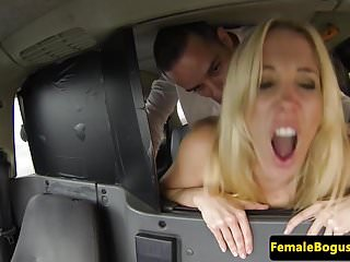 Busty uk cabbie doggystyled before rimming