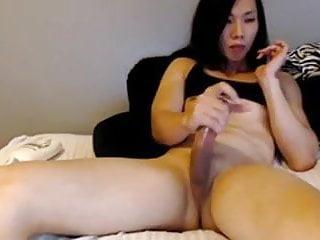 Sexy Amateur Asian Trap Masturbating In Black Top