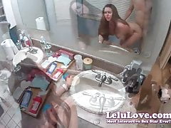 Lelu Love-POV in piedi Doggystyle e bagno Counter Sex