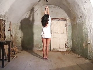 Spanking Teen Brunette video: Luna in south american prison part 2