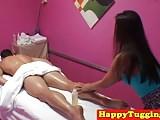 Asian masseuse trio caught on spycam