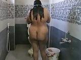 Big aunty Bathing