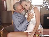 Tender babe plowed hard and fast by vigorous mature cock