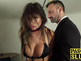 Big Cock Big Tits Milf video: Hot MILF subslut gagged and hammered by master Pascal