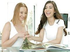 Kiki Cyrus und Anya Krey in lesbischer Szene Exotischer Geburtstag von