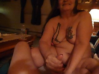 Fist fucking my husbands cock i love to...