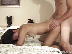Asian Teen Gets Nailed