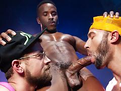 Strip Club Plowing, an Amazing Gay Threesome