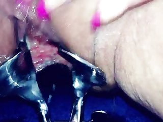 Cunt open and squirt