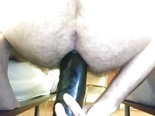 Anal stretching thick 12in dildo...