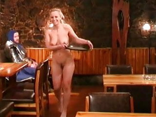 Nude weitress at a restaurant...