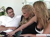 Blondes Phoenix Marie and Tanya Tate sharing a big pecker