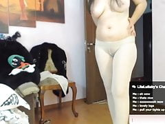 WebCam mature in white pantyhose