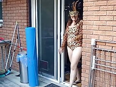 Cougar Strips and gapes asshole outdoors