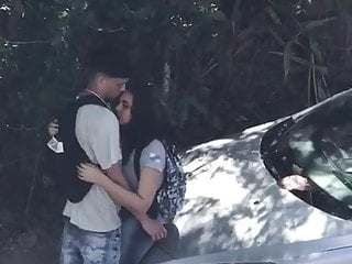 Public Nudity Brazilian Cfnm video: Students at street - public blowjob car - rio