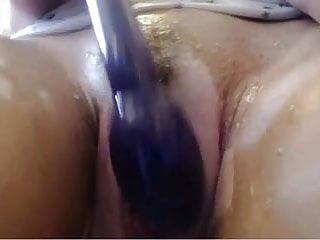 Hot Wheeler Babe Shower and Masturbating Show