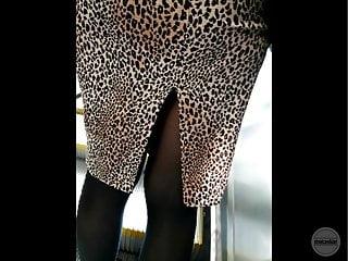 legs MILF Candid pantyhose voyeur