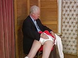 Old man spanks
